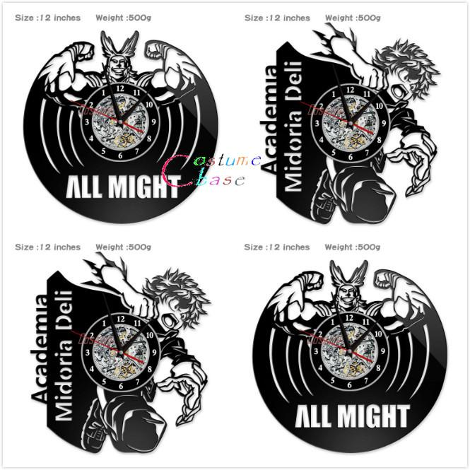 Anime My Hero Academia Record Wall Clock Style Clocks For Living Room Silent Vintage Hanging Clock Cosplay Accessory Waterproof Watches Watches For Sale From Sihuoguo 21 33 Dhgate Com
