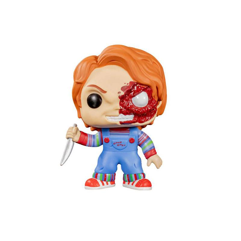 Giocare con i Funko Pop Film horror Bambino di Vinyl Figure # 798 Mezza Battaglia danneggiato Chucky Collection Action Figure Giocattoli Regali Bambini