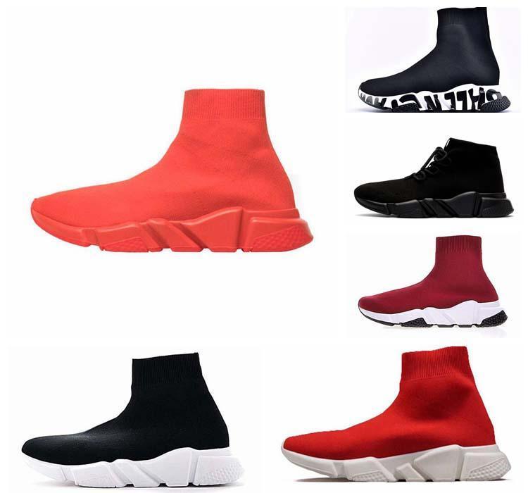 Luxe Design Chaussette Chaussures vitesse Entraîneur respirant Sneakers Vitesse Entraîneur Sock course Runners noir hommes Chaussures et femmes Chaussures de sport 36-45