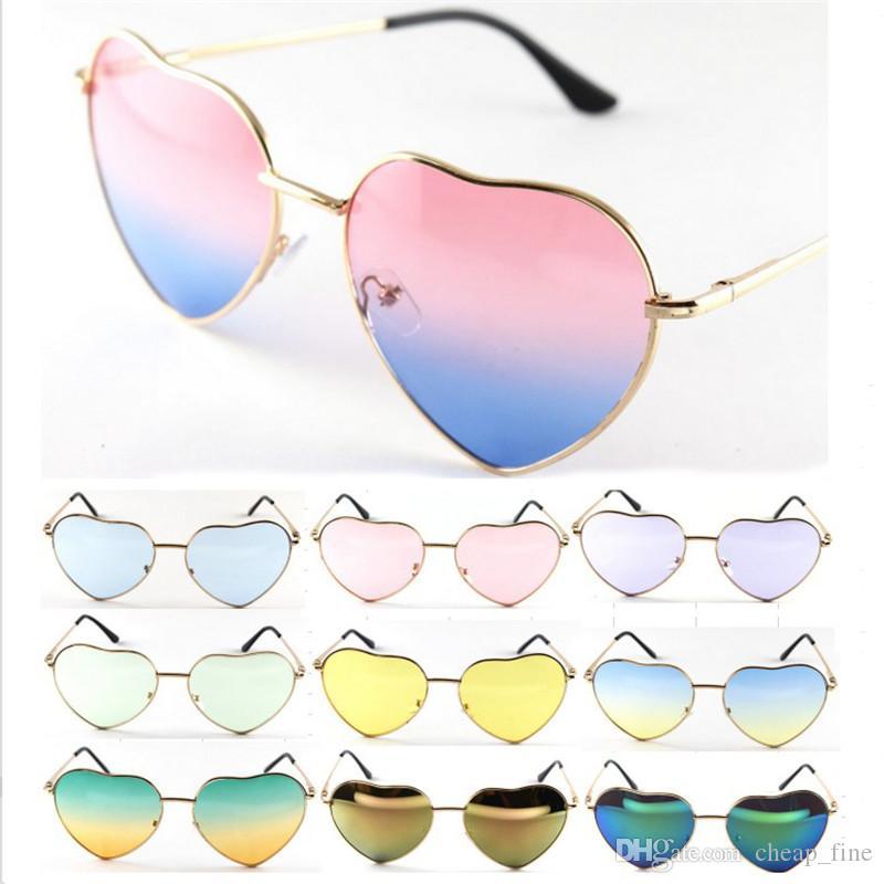 Herz Sonnenbrille Frauen Damen Designer Jahrgang 2019 Ocean Linsen Spiegel Steampunk Retro Female Heart Shaped Sonnenbrille