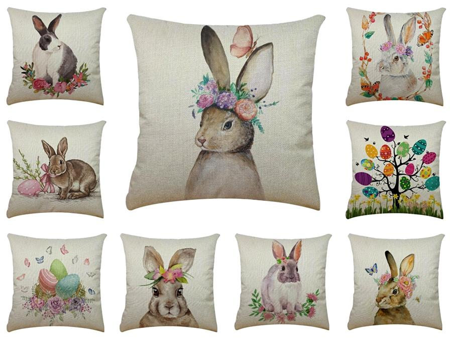 """Soft Long Plush Throw Furry Rabbit Pillow Case Luxury Sofa Bed Home Decor Cushion Er 18*18"""" 8Colors Party Gift#548"""