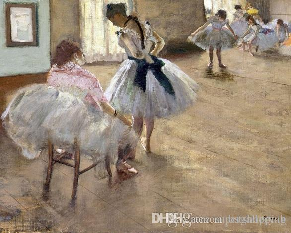 The Ballet Lesson By Edgar Degas Handpainted Impressionist Portrait Art Oil Painting On High Quality Canvas Home Decor Wall Art p214