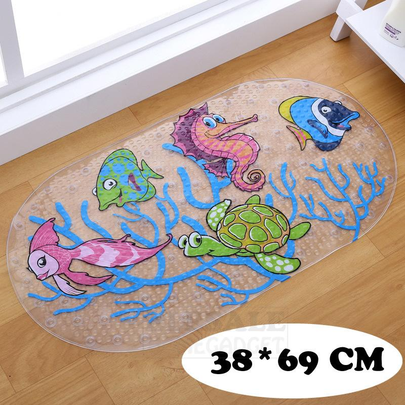 New 38 centímetros * 69 centímetros dos desenhos animados Anti-Slip bonito PVC Bath Mats com otário Banho Tapete Duche almofada macia Massage Pad Multi-Cor CX200630
