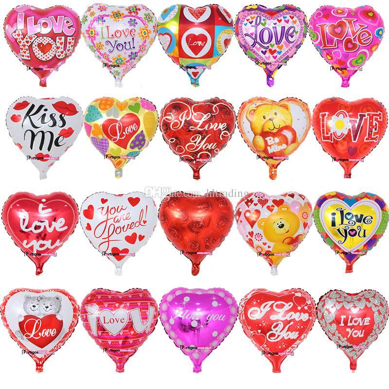 18 인치 풍선 발렌타인 데이 파티 풍선 장식 풍선 알루미늄 필름 풍선 나는 당신을 사랑합니다 풍선 장난감 C5877 용품