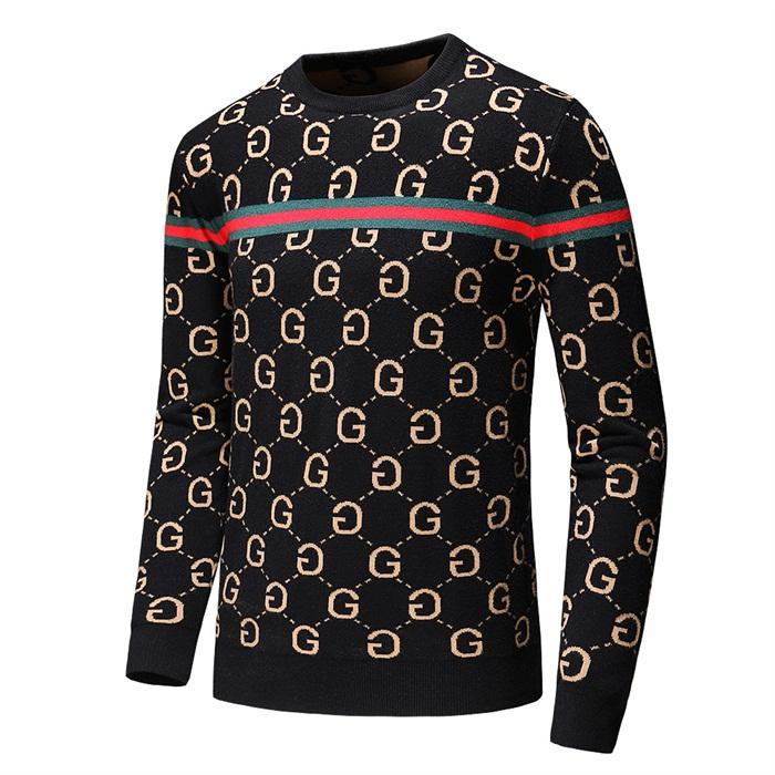 çift örgü M-3XL QA616 kazak örme Uluslararası üst seviye yeni kazak kaliteli yumuşak kazak moda Sonbahar / kış jakar mektup
