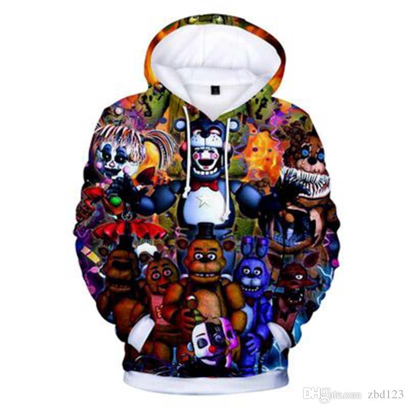 ENFANTS Cinq Nuits chez Freddy 3D Hoodies Mode Automne À Capuche À Manches Longues Cinq Nuits chez Freddy Sweats À Capuche Vêtements