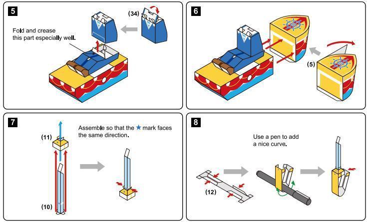 Seagull Sailor Paper Craft 3D Paper Model Toy Parent And Child DIY Kindergarten Activity Handmade Paper Folding