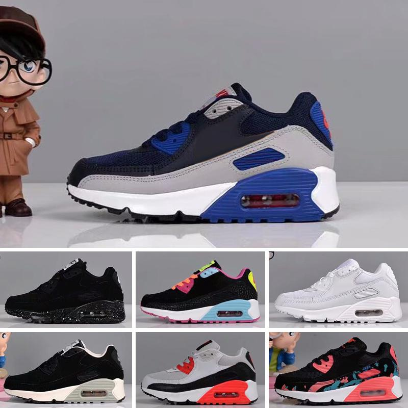 2020 Cheap Sale Kids Sneakers Presto 90 Shoe Children Sports Chaussures Pour Enfants Trainers Infant Girls Boys Running Shoes Size 28-35