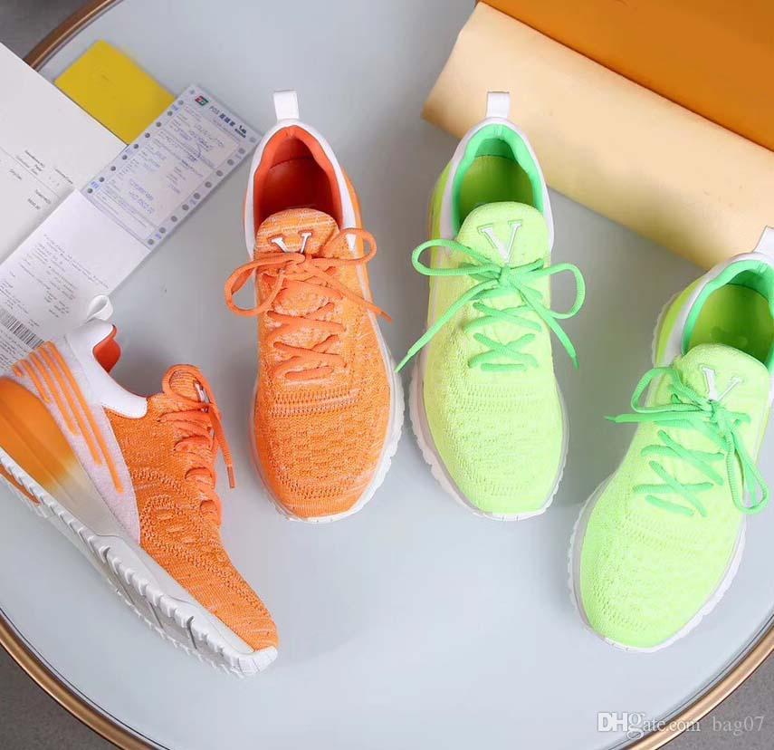 Con Box Sneaker Zapatos casuales Entrenadores Zapatos de diseñador Zapatos deportivos de moda La mejor calidad para hombre Mujer DHL gratis Por bag07 L2205 1-10