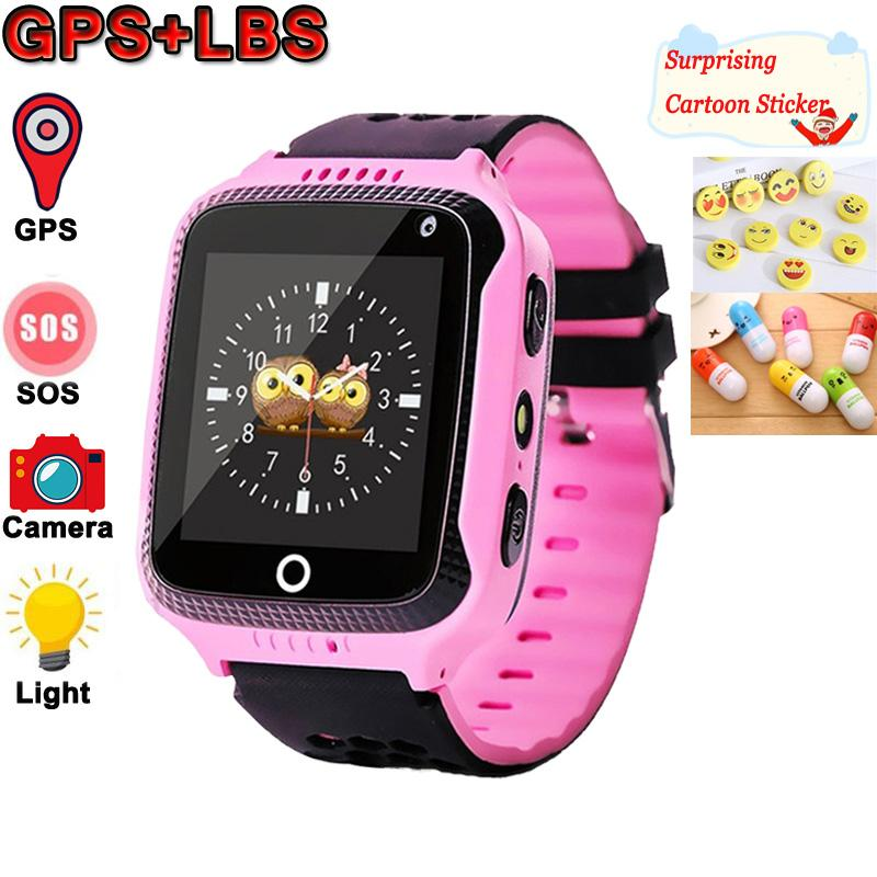 Smart Kids Montre GPS avec éclairage Smart Camera Montre sommeil Moniteur SOS bébé Horloge 2G SIM anti-perte Smartwatch enfants.
