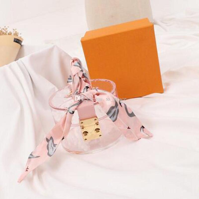 선물을위한 패션 미니 보석 보관 가방의 성격 투명 여성 파티 핸드백 클래식 인쇄 캐주얼 가방
