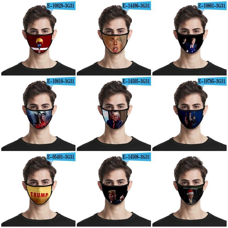 2020 US Donald Trump Face Mask Ice Silk American Election Dust Filter Respirator Anti Splashing Comfy Mouth Masks Sun Protection 2 2oh E19