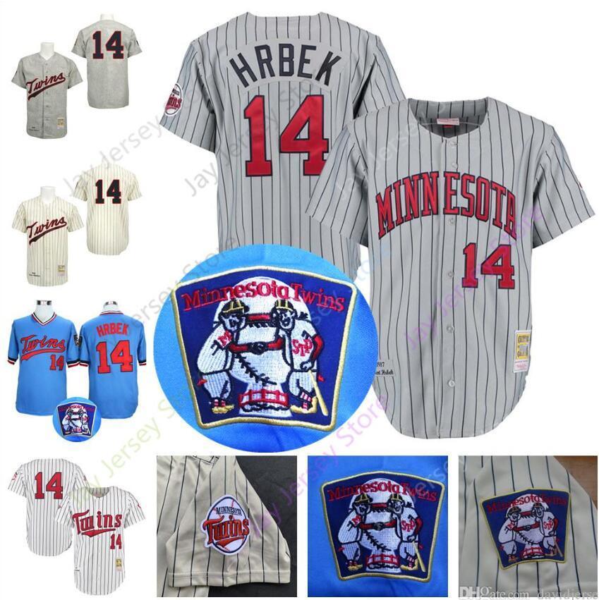 e841873e4 Kent Hrbek Jersey Twins Cooperstown 1991 World Series Minnesota Baseball  Jerseys Grey Pinstripe White Blue Cream Pullover