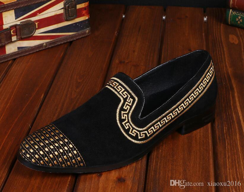 Modetrend Hochwertige Mode Stickerei Männer Schuhe Luxus Männer Kausalen Schuhe für Männer kleid Schuhe Oxford zapatos de novio DM110