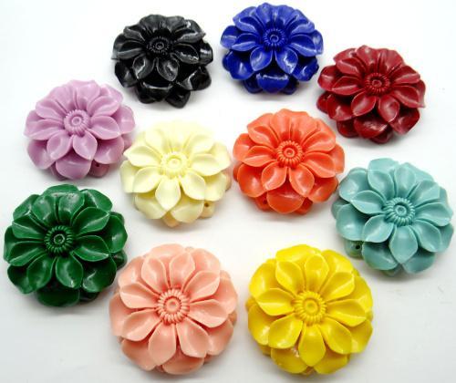 cristallo scolpire naturale cinese organico Cinnabar quarzo del pendente di fascino fiore per gioielli fai da rendere gli accessori della collana A7