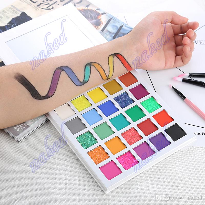 OEM sombra de olho profissional cosméticos private label paleta da sombra 16.0 cm * 16.0 cm * 2.0 cm 210g sem logotipo 25 cor