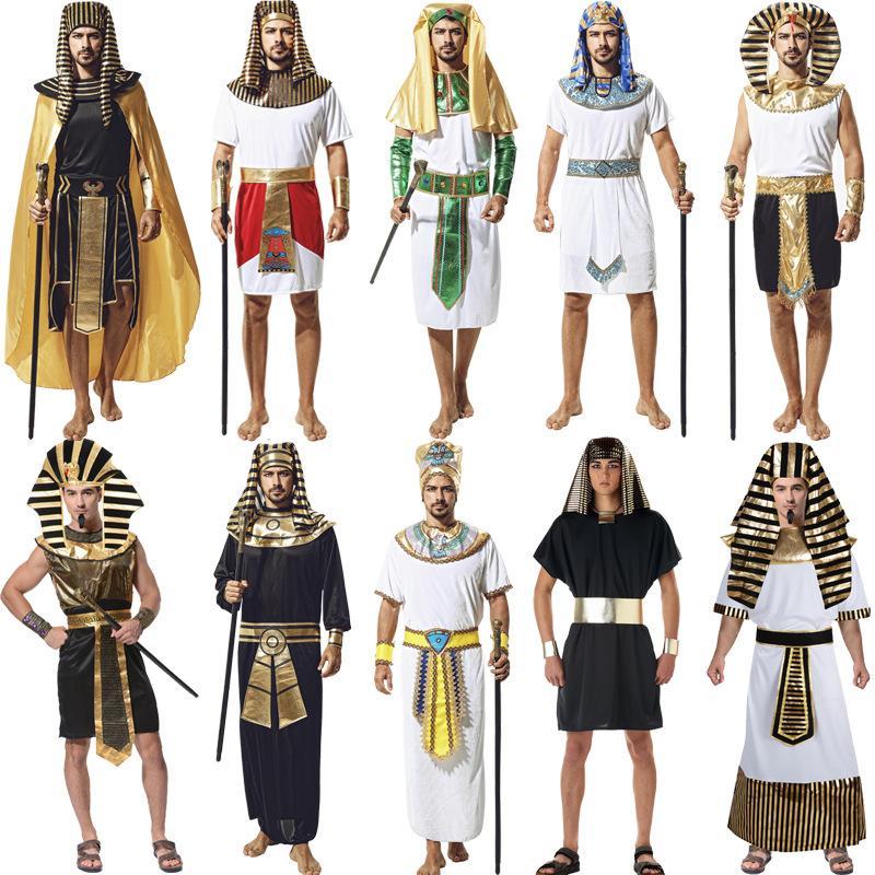 حزب تأثيري المرحلة زي الفرعون المصري الملابس هالوين موضوع تأثيري حلي القديمة الرومانية الملكة الأميرة الملابس الوطنية 06