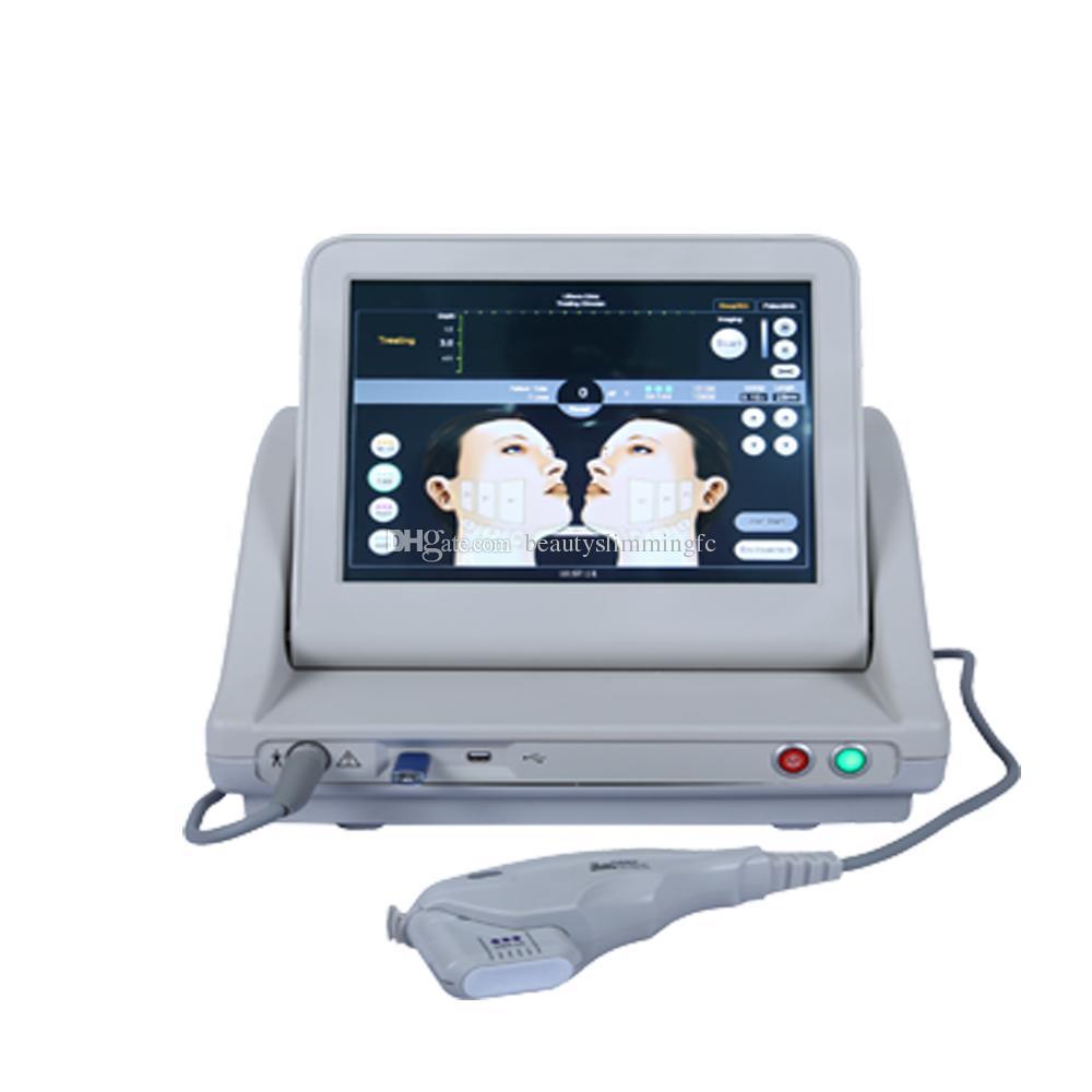 2019 Professional HIFU máquina com 5 cartuchos 10000 tiros terapia de ultra-som para rugas remoção levantamento da pele