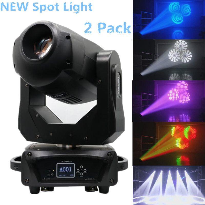 2 팩 새 무대 조명 180W LED 무빙 헤드 Gobo 빛으로 3 단계 프리즘 무대 파티 쇼