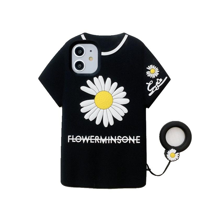 Творческий 3D силиконовые телефон чехол для iPhone 11 Про Макса iphpne х хз Макс XR и одежда цветок pattem Мягкая обложка