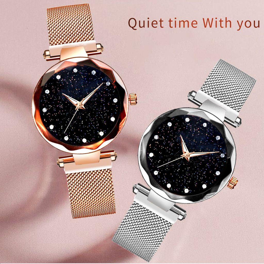 women watches ladies magnetic starry sky clock fashion diamond woman Quartz watches relogio feminino zegarek damski