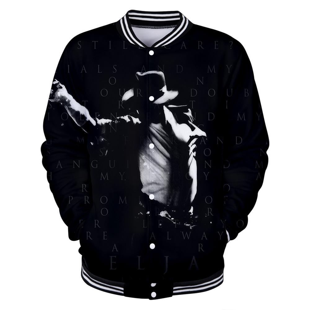 أنجح فنان في تاريخ العالم Michael Jackson 3D Baseball uniform Men / Women Casual Harajuku Baseball Jackets clothes