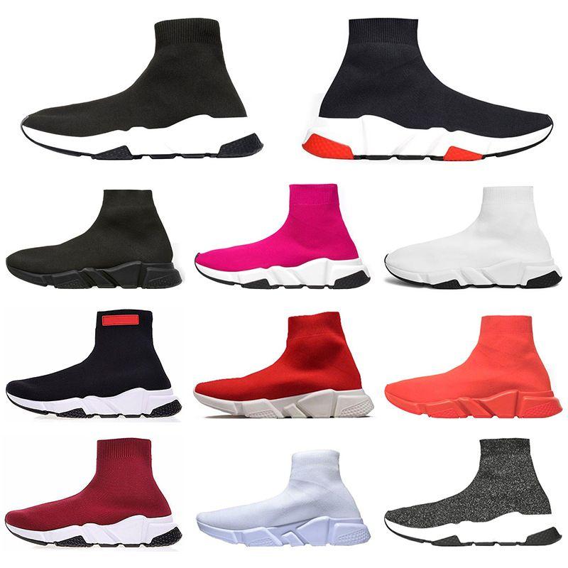 Balenciaga 2020 Parigi di qualità sport unisex delle scarpe da tennis tripla nero piattaforma Speed Trainer Oero stivali rossi piatto calzino scarpe casual Runner
