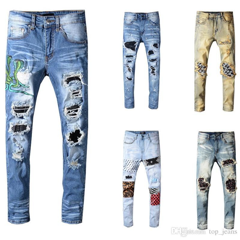 2021 Brand Amiris Mens Designer Pants Designer Mens Designer Jeans Slim Denim Straight Biker Skinny Jeans Mens Jeans From Top Jeans 46 6 Dhgate Com