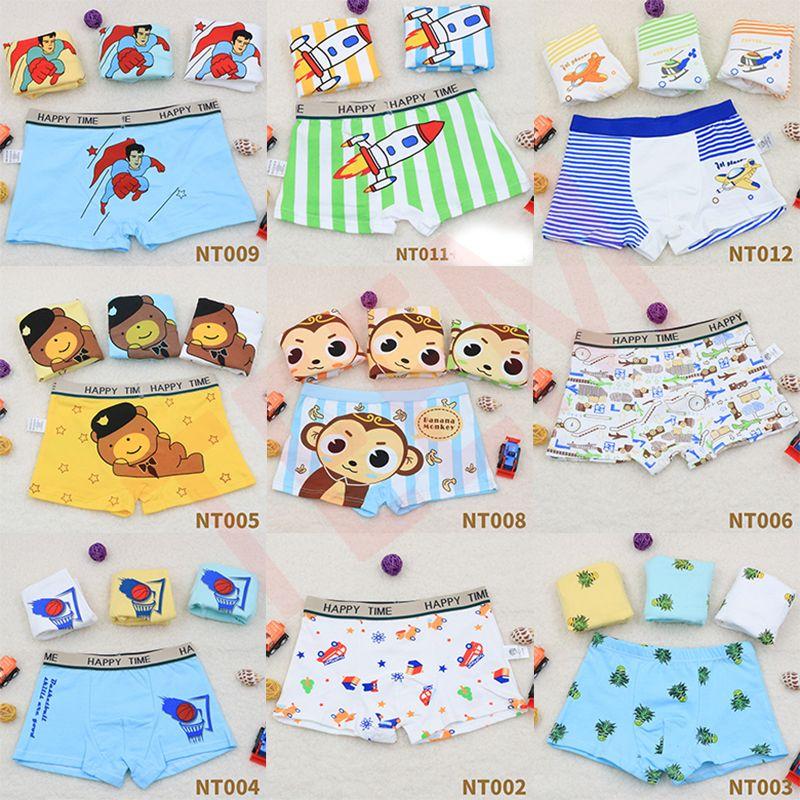 DHL 4PCS / lot الأولاد طفل بنات أولاد الملاكمين ملابس داخلية الكرتون سروال الاطفال الملابس الداخلية اللباس الداخلي سراويل الرضع المراهقين 3-8Y