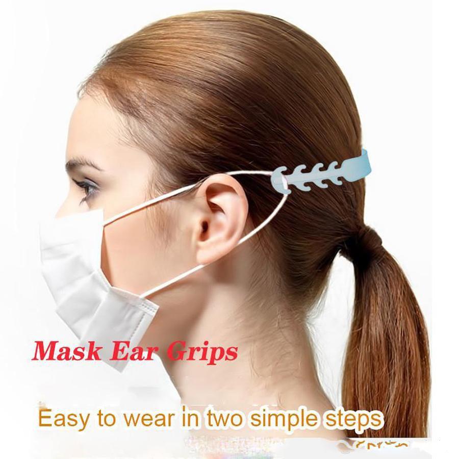 24 ore Disponibile DHL libero spedice regolabile Anti Slip Maschera Orecchio Grips Maschera Ear Hooks confortevole Maschera comodo Ear regolabile Strap Extension