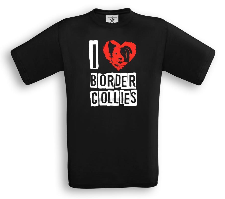 I Love Border Collies T-Shirt-Border-Collie-Beweglichkeits-Hund-Sport-Geschenk