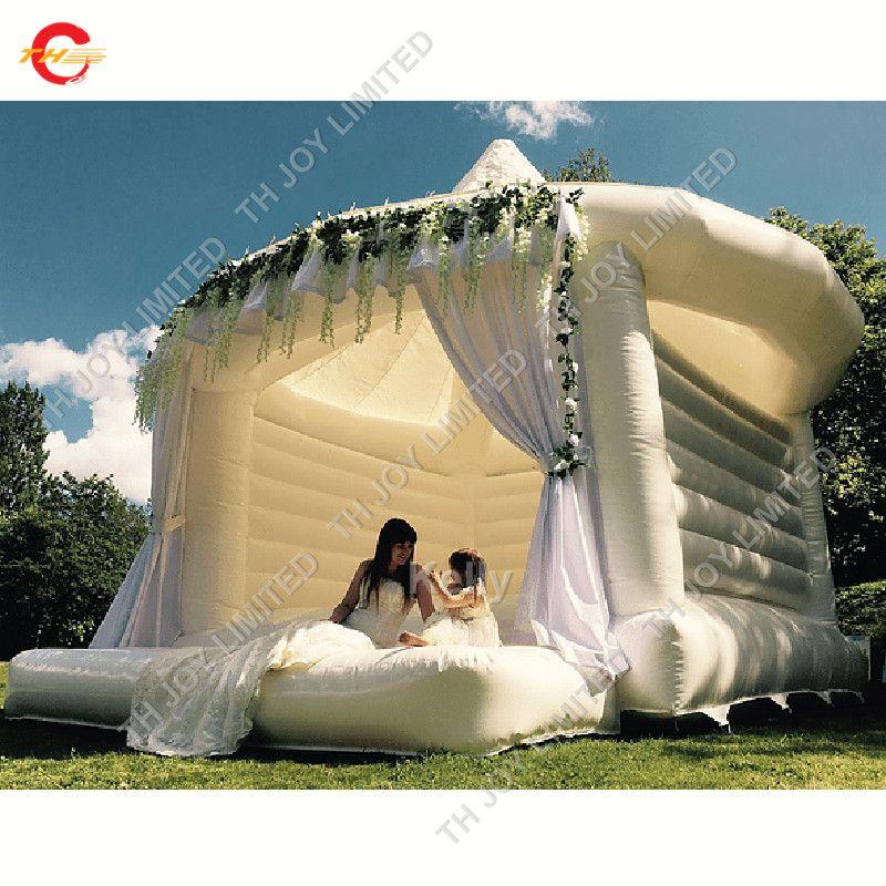 белый надувные свадьбы вышибала для продажи коммерческого надувного белого вышибалу caslte для свадьбы партии воздуха Надувного дома