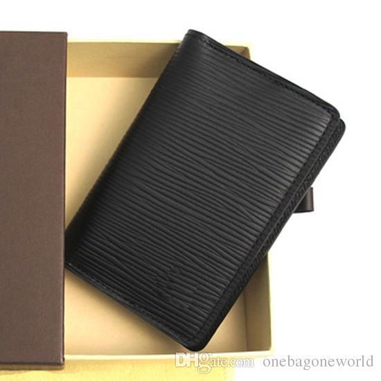 Portefeuilles en cuir Organisateur de poche excellente qualité NM en toile réel titulaire de la carte mens M60502 N63145 N63144 bourse id sacoche portefeuille bifold