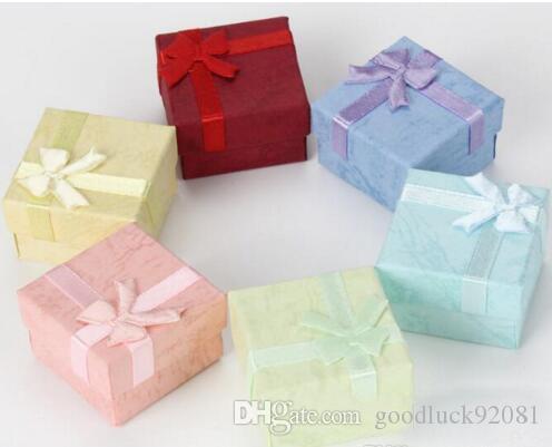 4 * 4 céu e da terra tampas de caixas de anel, brincos, pequenas caixas, jóias, jóias, embalagens, caixas de papelão, 96pcs / lot