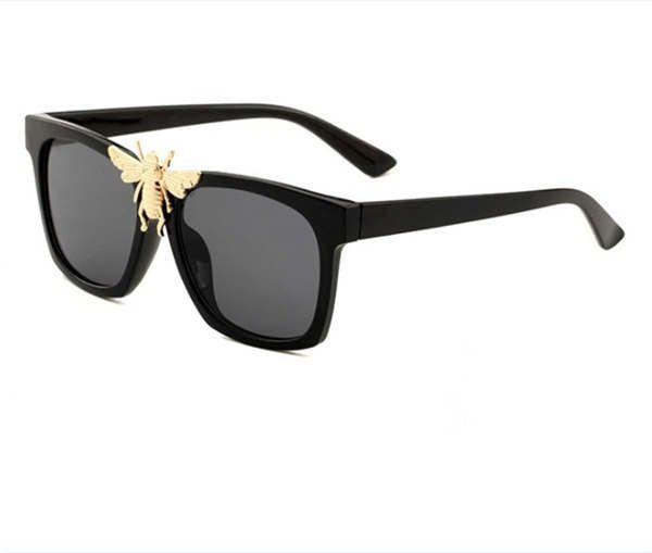 0239 new stylish big bee decorative sunglasses trendy big box sunglasses stylish glasses4