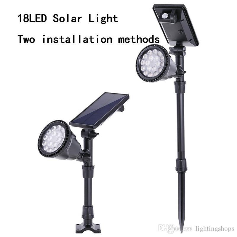 18LED Solar PIR Motion Sensor Outdoor Street Light Garden Security Wall Lamp New
