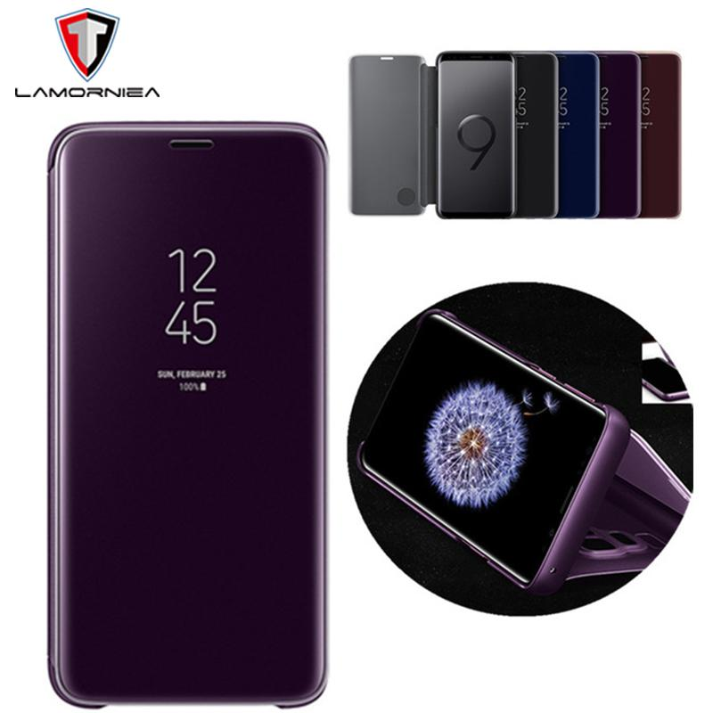 For Samsung Note 9 Case Note 8 5 With Original Chip Smart View Mirror Flip Stand Case Cover For Samsung S9 S8 Plus S7 S6 Edge