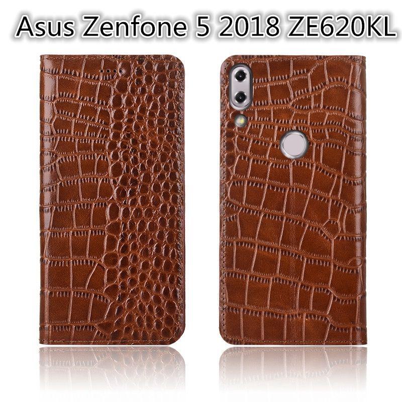 Ultra mince cas de téléphone pour Asus Zenfone 5 2018 ZE620KL Etui en cuir de luxe pour Asus Zenfone 5 2018 ZE620KL Etui à rabat avec fente pour carte