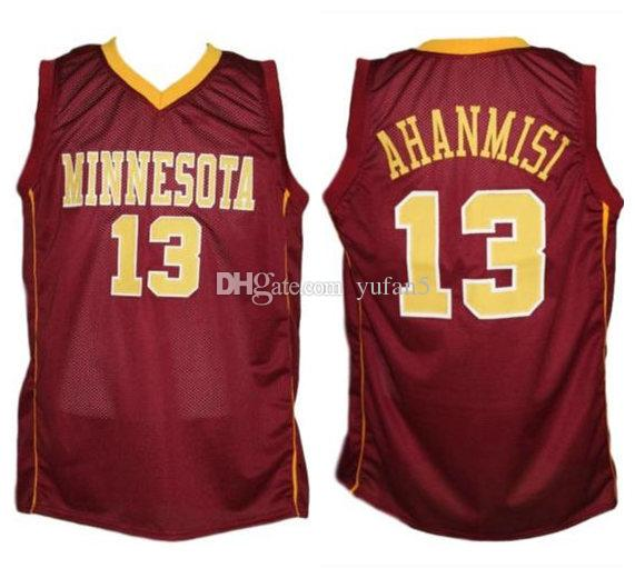 Maverick Ahanmisi #13 Minnesota Golden Gophers College Retro Basketball Jersey Men's Stitched Custom Number Name Jerseys