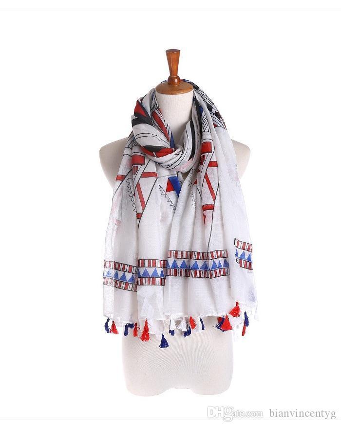 al por mayor nuevo de alta calidad de la bufanda de algodón sola borla original, protector solar, japonesa chal recorrido sol, pañuelos decorativos Pareos toalla de playa