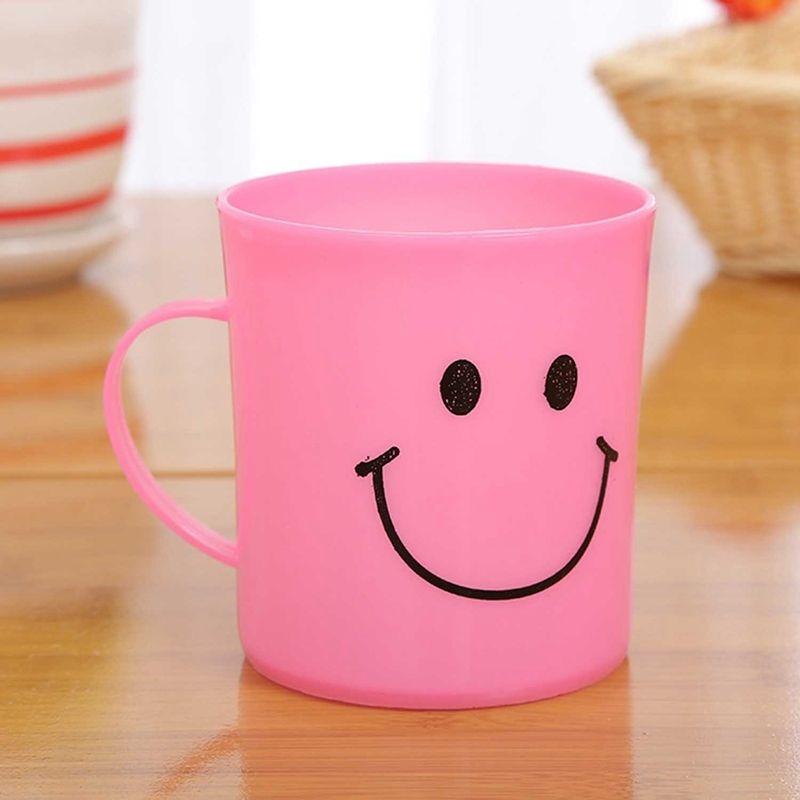 24X أطفال بلاستيك مبتسم الوجه الكؤوس، تناول أكواب معسكر / حزب طقم سفر حمام الأحواض