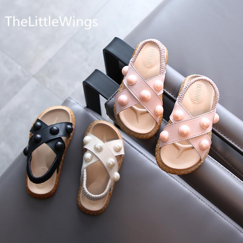 Kız sandalet yaz 2020 yeni moda Prenses çocuk burnu açık ayakkabılar yumuşak taban 1-3 yaşında Süper yumuşak ve rahat