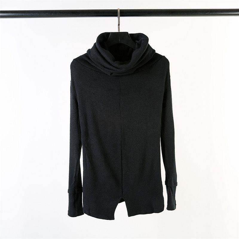 Owen seak Männer Pullover gestrickten Pullover Gotik High Street Männer Hemd grundiert Frühling Men Solid Black Hoodies Pullover