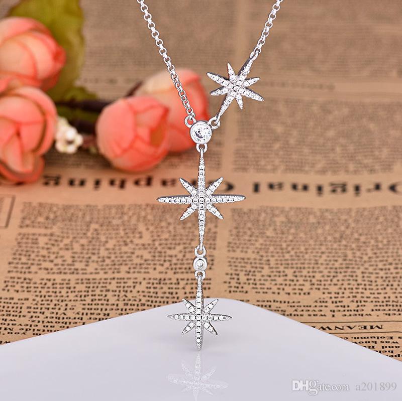 نجمة الأزياء قلادة قلادة للسيدات هدية عيد الحب المجوهرات قلادة