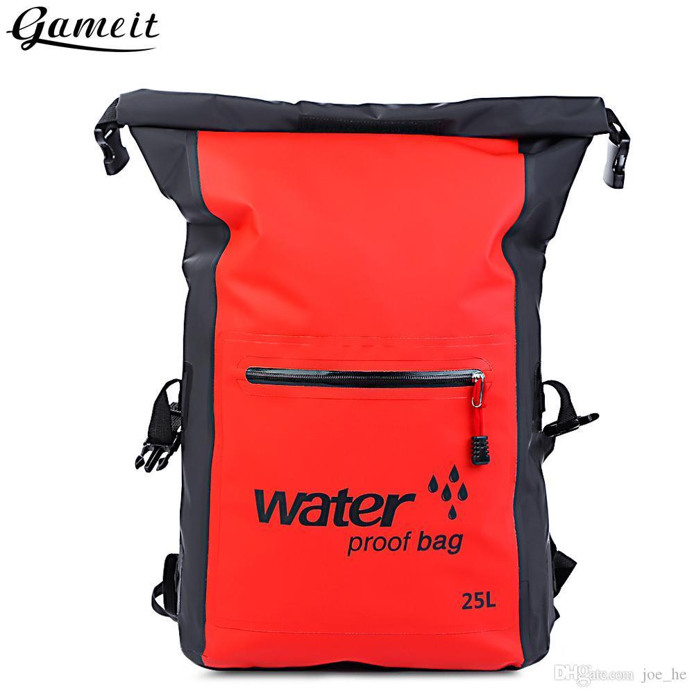 Deportes Kayak kits de recorrido de natación 25L impermeable al aire libre del bolso seco Rafting Mochila Saco Bolsa de almacenamiento de Rafting en Senderismo