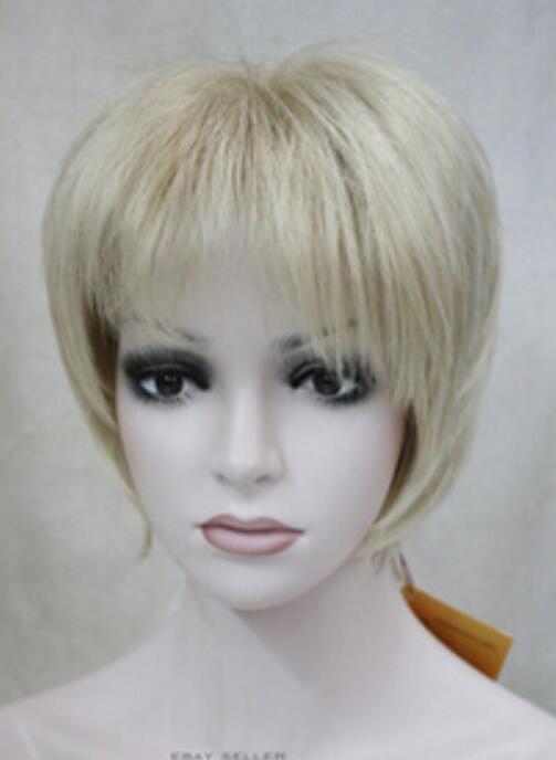 Perücke Versand Blonde Mixed Short Frauen Damen Haar Full Hivision Täglich volle Perücke