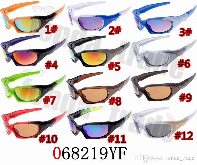 12 Colors Designer Styles Cycling Glasses Bike Bicycle eyewear Outdoor Sports Sunglasses UV400 PC Frame 10PCS Summer sunglasses mens
