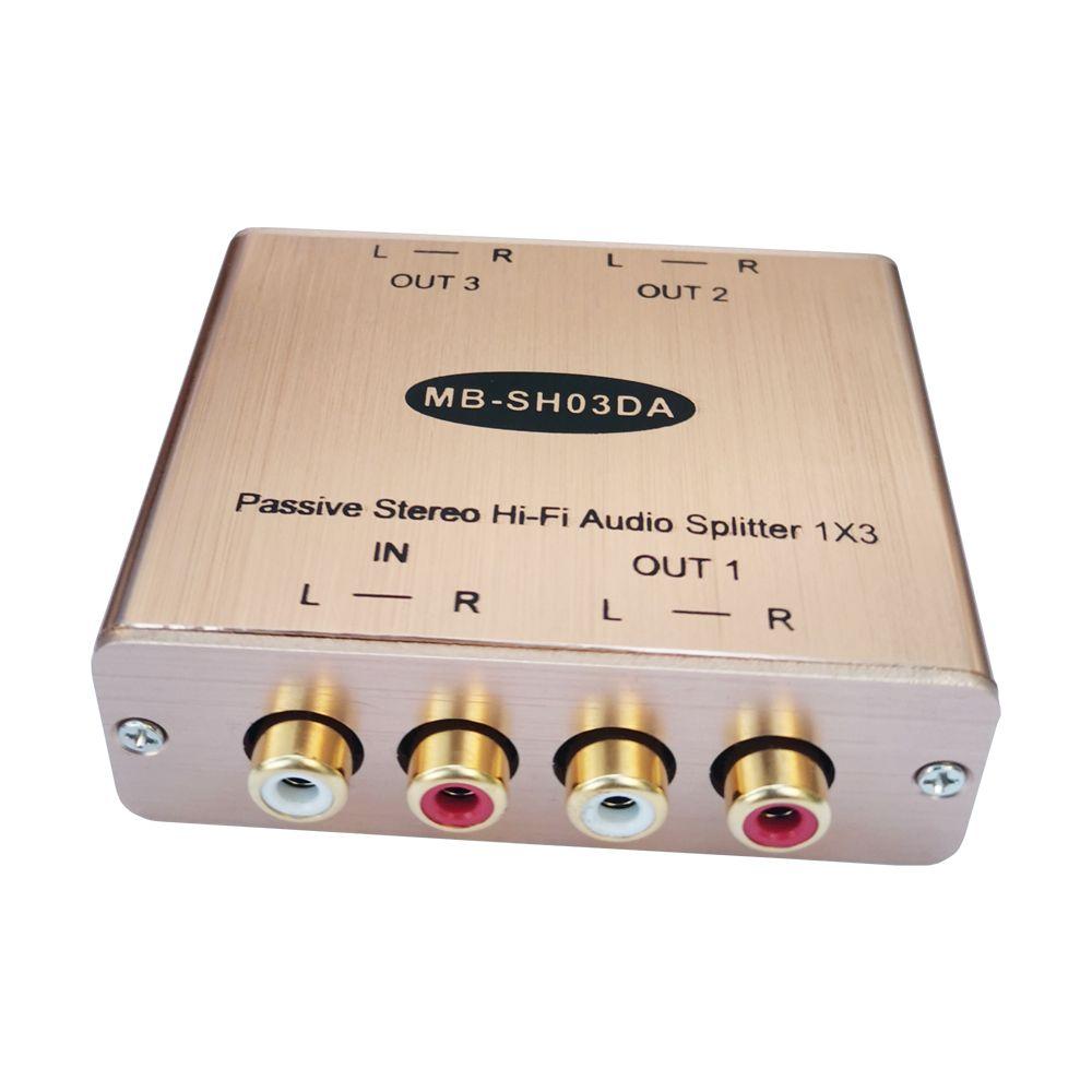 Stereo splitter 3-CH RCA Ses splitter 3 yollu ses dağıtıcısı üçte biri RCA ses