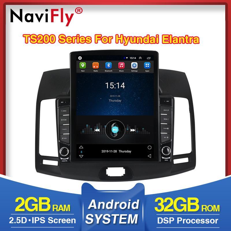갈매기! 9.7inch IPS DSP 안드로이드 차량용 DVD 무선 오디오 GPS 네비게이션 엘란트라 4 2,006에서 2,010 사이 WIFI BT 멀티미디어 플레이어 4G GPS를위한
