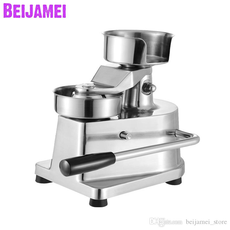 BEIJAMEI Nuovo manuale Hamburger pressa di Burger meat pie Premendo Patty Maker commerciale Hamburger Fare Prezzo